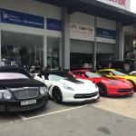 Dàn siêu xe khủng xuất hiện ở Showroom Việt Mỹ Auto
