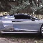 Siêu xe Audi R8 V10 tai nạn vì thể hiện phóng nhanh