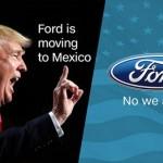 Ford là hãng xe đầu tiên hợp tác với tổng thống Donald Trump