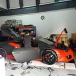 Siêu xe Lamborghini Huracan màu đen nhám 17 tỷ trên đường Hà Nội