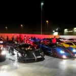 Choáng 11 siêu xe Pagani tụ tập, nẹt pô, tăng tốc trong đêm