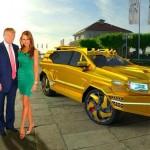 Siêu xe bọc thép mạ vàng của Dartz Motorz dành cho ông Trump
