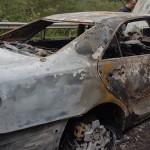 Xe ô tô cháy rụi khi đổ đèo ở Bắc Kạn ?