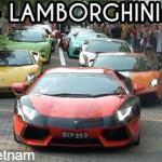 Hơn 40 siêu xe Lamborghini của đại gia Singapore diễu hành trên phố