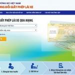 Thí điểm đăng ký xe qua mạng internet
