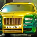 Ngắm xe siêu sang Rolls royce ghost Dubai giống xe đại gia Ninh Bình