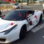Siêu xe Ferrari 458 mui trần thuê cưới bị tai nạn hư hỏng nặng