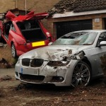 Xe máy tay ga tan nát vì đối đầu xe sang Audi