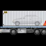 Dàn xe Container rước quan tài thể hiện sự kính trọng lái xe đã mất