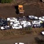 97 chiếc xe SUV BMW mới bị hư hỏng nặng trong tai nạn đường sắt