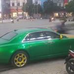 Xe siêu sang Rolls royce Ghost phong cách giống xe Taxi ở Ninh Bình ?