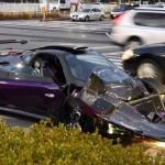 Siêu xe Pagani Zonda ZoZo độ cực hiếm bị tai nạn ở Nhật Bản