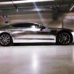 Siêu xe Aston Martin Ninh Bình dán đề can chrome