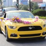 Xe Ford Mustang hơn 2 tỷ đồng làm xe dâu ở Nghệ An
