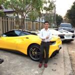 Hai siêu xe Ferrari 488 GTB và Lamborghini Aventador ở Phú Thọ