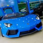 Chiêm ngưỡng siêu xe Lamborghini Aventador màu xanh Le Mans