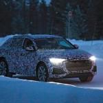 Ảnh chi tiết xe Audi Q8 chạy thử trên đường tuyết
