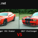 So sánh Dodge Challenger 392 và Challenger SRT Hellcat 2017