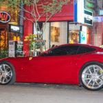 Siêu xe Ferrari F12 của Cường đôla xuất hiện cùng Lamborghini Aventador