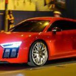 Siêu xe Audi R8 V10 giá 13 tỷ của Đông Nhi nẹt pô trên phố