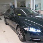 Siêu xe sedan Jaguar XJL màu xanh thẫm hiếm về Việt Nam