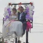 Nghệ An: Rước dâu trên xe nâng hàng cao gây xôn xao