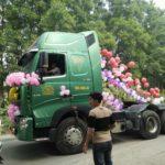 Xôn xao xe tải biển Thanh Hóa rước dâu ở Thái Nguyên