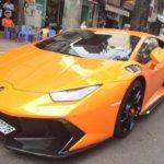 Siêu xe Lamborghini Huracan LP610-4 độ Novara trên phố Sài Gòn