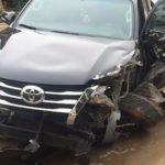 Toyota Fortuner 2017 tai nạn hỏng nặng phần đầu ở Thái Nguyên