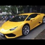 """Cường đôla lái siêu xe Lamborghini Huracan """"đua"""" tốc độ với Taxi trên phố"""