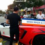 Cường đô la lái Lamborghini Aventador SV của Minh nhựa tăng tốc nhanh