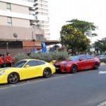 Loạt siêu xe Ferrari, Lamborghini, Porsche đi uống cà phê ở Sài Gòn