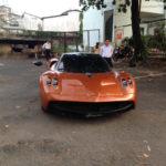 Đại gia Minh nhựa đi đăng ký biển cho siêu xe Pagani Huayra