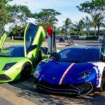 Siêu xe Lamborghini Aventador SV độ màu sặc sỡ của Minh nhựa