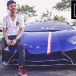 Minh nhựa vui vẻ chụp hình bên siêu xe Lamborghini độc nhất