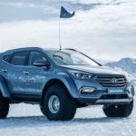 Xe Hyundai SantaFe độ bánh lớn chạy nghìn cây số trên tuyết