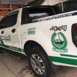 Ford ranger wildtrak độ kiểu xe cảnh sát Dubai ở Phú Thọ