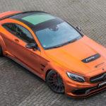 Siêu xe Mercedes-AMG S 63 Coupe độ thể thao với màu cam