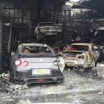 Siêu xe Ferrari F430 và Nissan GT-R không may gặp tai nạn