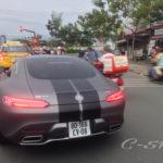 Siêu xe Mercedes-AMG GT S giá 4 tỷ của Cường đô la dạo phố