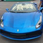 Thêm siêu xe Ferrari 488 mui trần màu xanh dương về Việt Nam ?