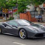 Chi tiết siêu xe Ferrari 488 GTB màu xám mới mua của Cường đôla