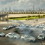 Ken Block lái xe Drift quanh vòng vây siêu xe cảnh sát Dubai