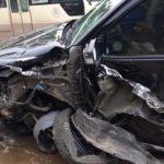 Vụ xe Toyota Fortuner bị tông nát đầu, túi khí xe đã bung