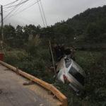 Hải Dương: Xe ô tô lao vào lề đường tông người đàn ông bay xuống ao