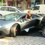 Gái xinh lái siêu xe Lamborghini Aventador lên xe tải lớn cực giỏi