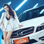 Người đẹp ngực khủng bên Mercedes C class hạng sang