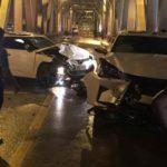 Hiện trường vụ tai nạn trên cầu Chương Dương 3 người chết