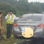 Tài xế buồn ngủ tông xe lên vỉa đường cao tốc Hà Nội – Thái Nguyên