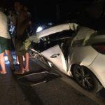 Xe Mazda 3 tai nạn nát bét trên cao tốc Hà Nội – Thái Nguyên